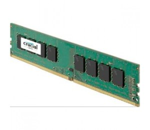 Crucial SINGLE CHANNEL: 8GB DDR4 2400MHz (PC4-19200) CL17 DR x8 Unbuffered DIMM 288pin Long DIMM