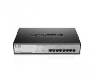 D-Link (DGS-1008MP) 8-Port Gigabit PoE Unmanaged Switch with 140W PoE Budget (Metal Housing)