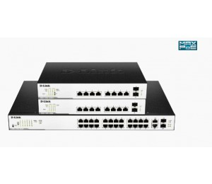 D-LINK 26-PORT SURVEILLANCE SWITCH WITH 24 POE AND 2 COMBO UTP/SFP PORTS (370W POE BUDGET)