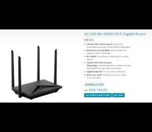 D-link Ac1300 Mu-mimo Wi-fi Gigabit Router Dir-853