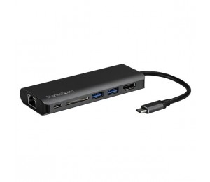 STARTECH USB-C Multiport Adapter - SD card reader - Power Delivery - 4K HDMI - GbE - 2x USB 3.0