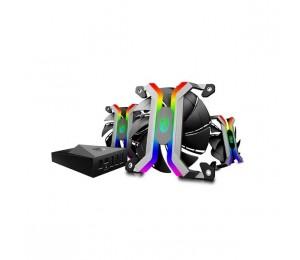 Deepcool 120mm Mf120 Rgb 2200rpm Fan Triple Pack With Lighting Controller Dp-gs-fmf120wf-3sw