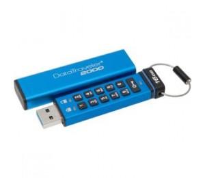 KINGSTON DT2000/ 16GB, 16GB KEYPAD USB 3.0 DT2000, 256BIT AES HARDWARE ENCRYPTED DT2000/16GB