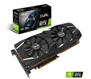 Asus Dual Geforce Rtx™ 2080 Ti 11Gb Gddr6 With High-Performance Cooling For 4K And Vr Gaming Dual-Rtx2080Ti-11G
