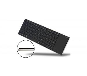 Rapoo Wireless Multi-media Touchpad Keyboard Black E2710-bk