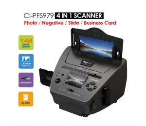 Digitalk 4-in-1 Combo 14mp Photo/ Film/ Slide/ Business Card Scanner Eledigpfscanner4in1
