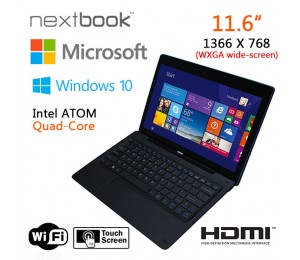 Nextbook 11.6 Inch 64g/ Windows 10/ Quad Core With Hdmi Output Tablet Pc (refurbished) Elenex1106bfp-rf64