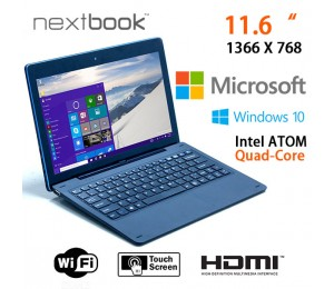 Nextbook 11.6 Inch 64g Windows 10 Quad Core With Hdmi Output Tablet Pc (m1106bfd) Elenew116qc264