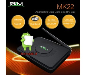 Rkm Mk22 Qcta Core 64bit 4k Android 6.0 Mini Pc 2g/16g,dual Band Wifi, Bt4.0 Elerkmmk22