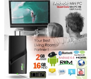 Rkm V5 Quad Core 4k Mini Pc Rk3288 2g Ddr3/ 16g Rom/ Bt 4.0 Dual Band/ Wifi/ Gbit Lan/ Andriod Elerkmv5