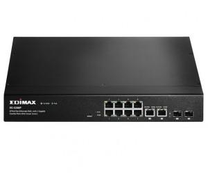 Edimax Pro (ES-5208P) Edimax 8 ports 10/ 100M PoE+ WebSmart Switch + 2 Giga SFP Combo (150W) ES-5208P