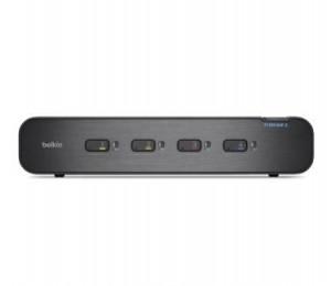 Belkin 4-port Secure Dual-head Dvi-a Kvm Switch With Cac 3yr Wty F1dn104f-3au