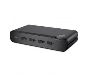 Belkin 4-port Secure Dual-head Display Port Kvm Switch Wi Th Cac 3yr Wty F1dn104w-3au