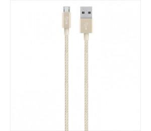 BELKIN MIXITUP METALLIC PREMIUM MICRO USB CABLE - GOLD F2CU021BT04-GLD
