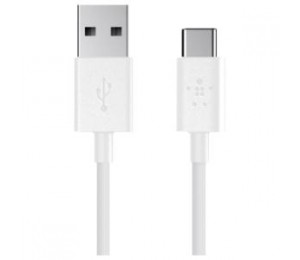 Belkin Usb-a To Usb-c Charge/ Sync Cable 1.8m White 2yr Wty F2cu032bt06-wht