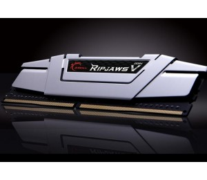 G.Skill DUAL CHANNEL: 16GB (2x8GB) DDR4-2400 [RipjawsV] Silver low voltage 1.2V F4-2400C15D-16GVS