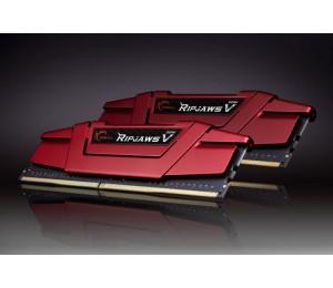 G.Skill DUAL CHANNEL: 8GB (2X4GB) DDR4-2400 [RipjawsV] Blazing Red F4-2400C15D-8GVR
