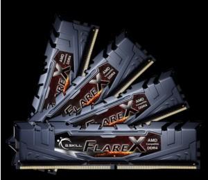 G.skill 64GB (16GBx4) DDR4-2400 (PC4-19200) CL15-15-15-39 1.2 Volt[Flare X for AMD] F4-2400C15Q-64GFX