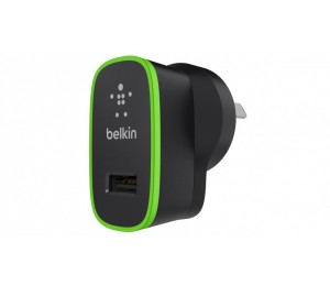 BELKIN BOOST IT UP 2.4A HOME CHARGER BLACK 2YR WTY F8J040AUBLK