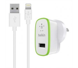 BELKIN BOOST IT UP 2.4A HOME CHARGER WHITE, 2YR WTY F8J040AUWHT