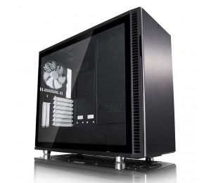 "Fractal Design Mid Tower: Define R6 Blackout Tempered Glass No Psu 2x Usb 3.0 + 2x Usb 2.0 6x 3.5"""