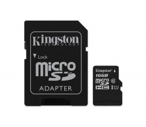 Kingston Sdcs-16gb Microsdhc Canvas Select 80r With Sd Adapter Ffckin16gsdcs