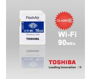 Toshiba 16gb Thn-nw04w0160c6 Flashair Sdhc W-4 Cl10 (new) 90r 70w Ffctos16gair04-1