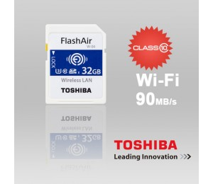 Toshiba 32gb Thn-nw04w0320c6 Flashair Sdhc W-4 Cl10 (new) 90r 70w Ffctos32gair04-1
