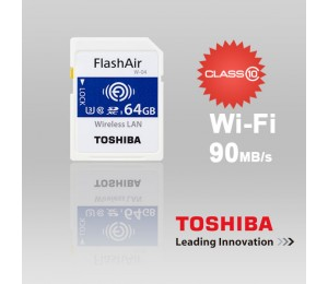 Toshiba 64gb Thn-nw04w0640c6 Flashair Sdhc W-4 Cl10 (new) 90r 70w Ffctos64gair04-1