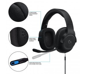 Logitech 981-000670: Logitech G433 7.1 Surround Sound Wired Gaming Headset Loghstg433