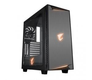 GIGABYTE AC300W ATX MID TOWER PC CASE RGB LIGHTS CLEAR WINDOW GB-AC300W