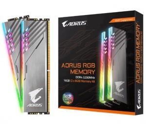 Gigabyte Aorus Rgb Gaming Memory 16Gb (2X8Gb) Ddr4 3200Mhz C16 1.35V 16-18-18-38 Xmp Dual Channel