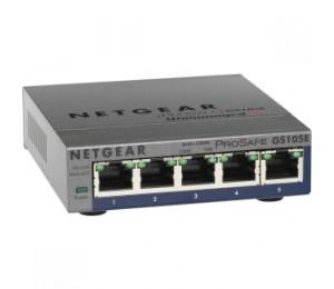 Netgear Prosafe Plus Gs105e 5-port Gigabit Ethernet Switch Gs105e-200aus