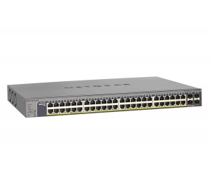 Netgear Gs752tpv2 48-port Gigabit Poe+ Ethernet Smart Managed Pro Switch With 4 Sfp Ports 380w