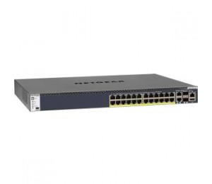 NETGEAR M4300-28G-POE+ 24-PORT FULLY MANAGED STACKABLE LAYER 3 POE+ SWITCH (24 X 1G PORTS WITH