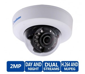 Geovision 2 Megapixel H.264 WDR IR Mini Fixed IP Dome Camera GV-EFD2100-0F