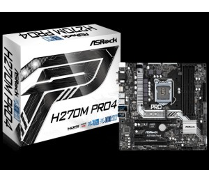 ASROCK H270 PRO LGA1151 MATX MB 4X DDR4-2133 2X ULTRA M.2 SATA3 HDMI/DVI/VGA RAID H270M-PRO4