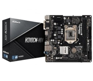Asrock Intel H310 Chipset Micro Atx Pcie X16 Hdmi Dvi-d D-sub Usb 3.1 Intel I219v 3 Yrs Wrty H310cm-hdv