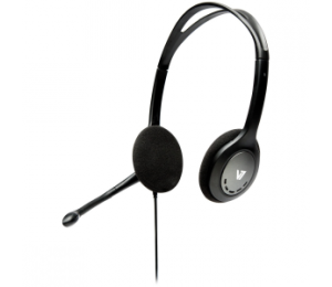 V7 Stereo Headphones + Mic Ha201-2ap