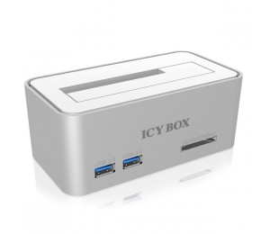 Icy Box Ib-111hcr-u3 Hard Didk Docking Station For Sata Hdds And Ssds With Usb 3.0 And A Card Reader