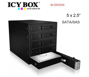 "Icy Box Ib-565ssk Backplane For 5x 3.5"" Sata Or Sas Hdd In 3x 5.25"" Bay Hddicy565ssk"