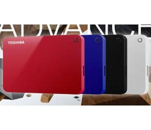 TOSHIBA CANVIO ADVANCE V9 USB 3.0 PORTABLE EXTERNAL HARD DRIVE 1TB (BLUE) HDTC910AL3AA