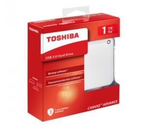 Toshiba Canvio Advance V9 Usb 3.0 Portable External Hard Drive 1tb (white) Hdtc910aw3aa