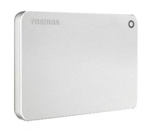 Toshiba Canvio Premium P2 Usb 3.0 Portable External Hard Drive 1Tb (Silver) Hdtw210As3Aa