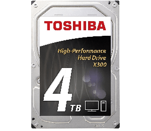 "Toshiba X300 Performance Int 3.5"" 4tb 7200rpm Hdd Hdwe140uzsva"