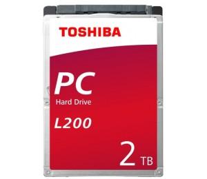 """Toshiba L200 Int 2.5"""" 2tb 5400rpm Mobile Hdd Sata (9.5mm) Hdwl120uzsva"""