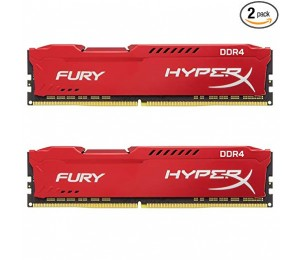 Kingston 16gb 2400mhz Ddr4 Cl15 Dimm (kit Of 2) 1rx8 Hyperx Fury Red Hx424c15fr2k2/ 16