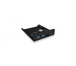 Icy Box Ib-Hub1417-I3 Frontpanel With Usb 3.0 Type-C And Type-A Hub With Card Reader Acricyhub1417I3