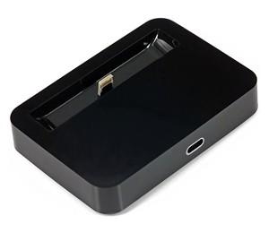 Docking Station Charger for iPhone 5 Desktop Data Sync Cradle Dock Black