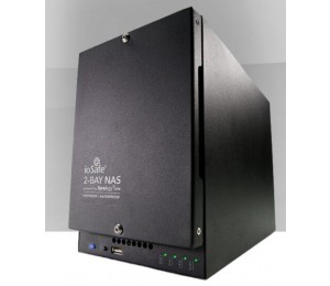 Iosafe 218 Diskless Nas - Two Bay Fireproof/ Waterproof Nas Device With Raid 1 Powered By Synology